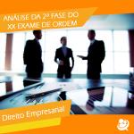 XX Exame de Ordem: análise da 2ª FAse- Prova de Direito Empresarial