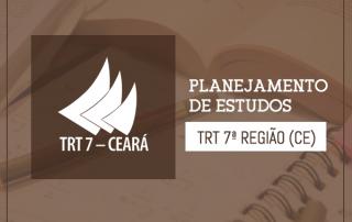 tabelas de estudos concurso TRT 7
