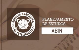 planejamento de estudos tabela de estudos concurso Abin 2018
