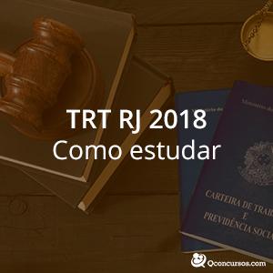 como estudar pata o concurso TRT 1ª Região